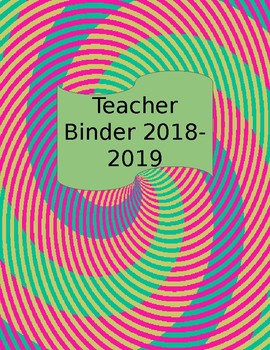 Editable Teacher Binder Covers and Spines
