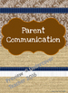 Editable Teacher Binder Covers and Spines (Brown Burlap & Lace)