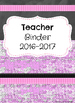 Editable Teacher Binder Covers and Spines (Pink Brick & Chalkboard)