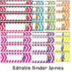 Binder Covers:  and Spines -cute bird theme