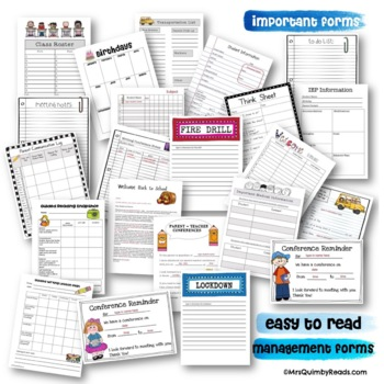 Editable Teacher Binder FREE Updates for Life-[Teacher Weekly Planners & Forms]
