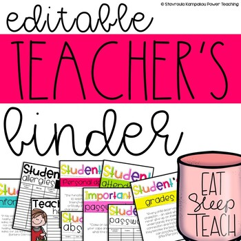 Editable Teacher Binder {Free Updates Every Year}