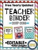 Editable Teacher Binder *Free Updates Every Year!*
