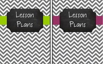 {Editable Teacher Binder} Gray Chevron Chalkboard 4-in-1 Bundle