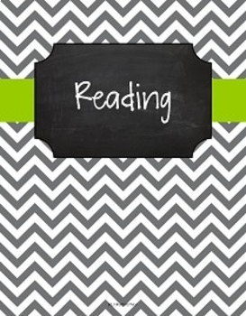 {Editable Teacher Binder} Gray Chevron Chalkboard with Lime Green Ribbon