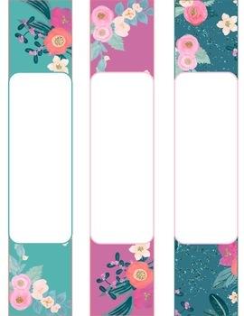 Editable Teacher Binder & Lesson Planner Bundle 18-19: Flashy Floral