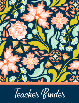 Editable Teacher Binder & Lesson Planner Bundle 18-19: Bold Floral