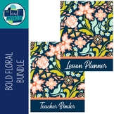 Editable Teacher Binder & Lesson Planner Bundle 18-19: Bol