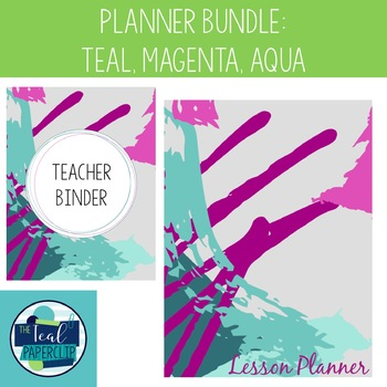 Editable Teacher Binder & Lesson Planner Bundle 17-18: Tea