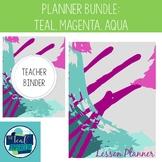 Editable Teacher Binder & Lesson Planner Bundle 18-19: Tea