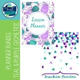 Editable Teacher Binder & Lesson Planner Bundle 18-19: Mermaid Tales