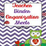 {Editable} Lesson Planners & Templates - Teacher Binder Organization Sheets