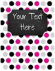 {Editable Teacher Binder} Pink, Black, & Gray Polka Dots C