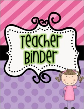 Editable Teacher Binder Pink Purple
