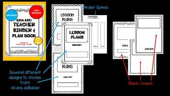 Editable Teacher Binder & Plan Book Bundle - Doodles 2017-2018 Updates yearly!!