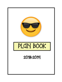 Editable Teacher Binder & Plan Book Bundle - Emoji