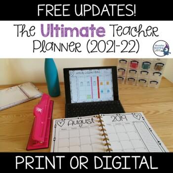 Editable Teacher Binder/Planner 2019-20