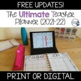 Editable Teacher Binder/Planner 2021-22