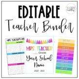 Editable Teacher Binder/Planner