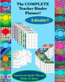 Editable Teacher Binder Planner All In One