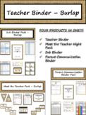 Editable Teacher Binder & Planner - Burlap {FREE LIFETIME UPDATES!!!}