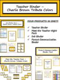 Editable Teacher Binder & Planner - Charlie Brown {FREE LIFETIME UPDATES!!!}