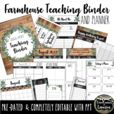 Farmhouse Teacher Binder & Planner Famous Quotes & Bible Verses (updated2021/22)