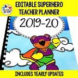 Editable Teacher Planner, Binder, Superhero Theme