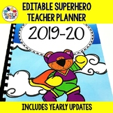 Editable Teacher Planner Binder Superhero