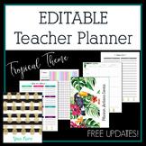 Editable Teacher Binder & Planner 2017-2018 Classic Pineap