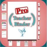 Editable Teacher Binder | Print & Digital Planner with FRE