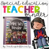 Special Education Teacher Binder {Completely Editable}