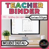 Editable Teacher Binder | Digital Teacher Planner 2019-2020 | also GOOGLE DRIVE