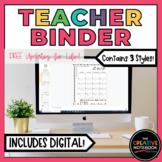 Editable Teacher Binder | Digital Teacher Planner 2018-201