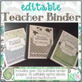 Editable Teacher Binder { Teal Mosaic } Ultimate Teacher S