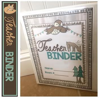 Teacher Binder Woodland 2018-2019