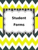 Editable Teacher Binder Yellow and Gray Chevron.