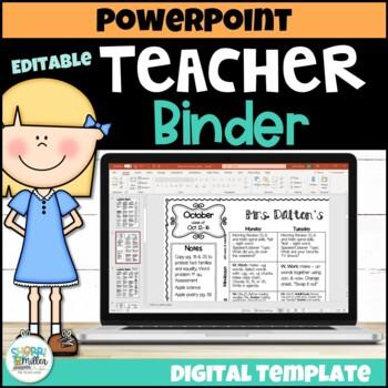 Editable Teacher Binder and Lesson Plans – Click, Type, Print Templates!
