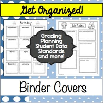 Editable Teacher Binder and Organizer - Polka Dot