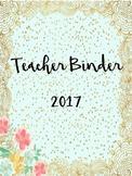 "Editable Teacher Binder and Planner (ECSE)- ""Summer Blossom"""