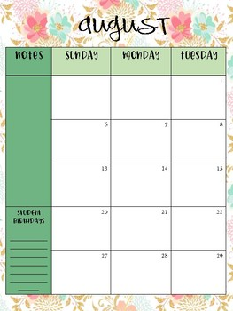 "Editable Teacher Binder and Planner (ECSE)- ""Summer Blossom"""