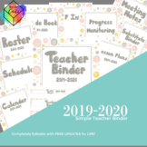 Editable Teacher Binder with Free Updates | Bubbles