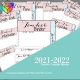 Editable Teacher Binder with Free Updates | Simple | thru July 2020