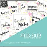 Editable Teacher Binder with Free Updates | Hearts