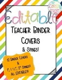 Editable Teacher Binders