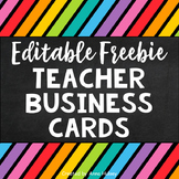 Editable Teacher Business Cards (Freebie)