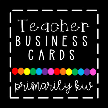 editable teacher business cards - Teacher Business Cards