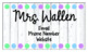 Editable Teacher Business Cards - Great for Open House or
