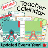 Editable Teacher Calendar 2021-2022 - FREE Updates for Life!