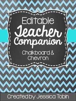 Teacher Binder (Editable- Chalkboard)